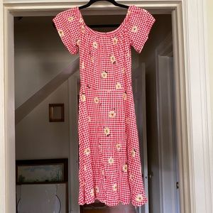 Cottage Core Gingham Dress